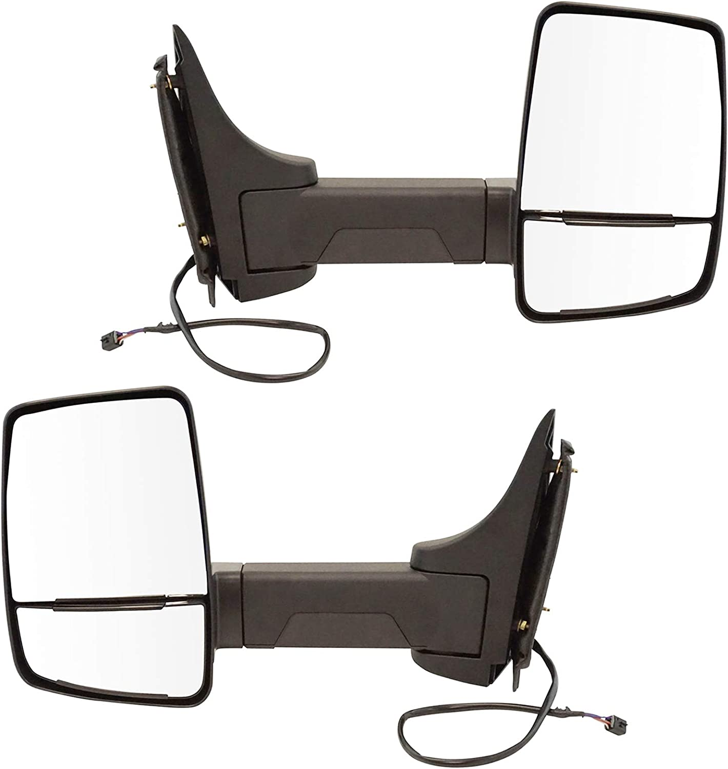 TRQTowing Mirror Power Textured Black Pair Cutaway GM sale for Va Set All stores are sold