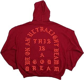 Yeezus Tour Ultra Light Beam RED Hoodie - I Feel Like Ye