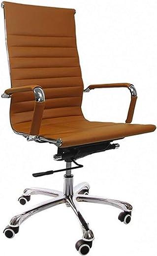 Vivol Madrid Schreibtisch Stuhl Kunstleder Cognac   Design Bürostuhl Ergonomisch   Bürostuhl 120 kg   Drehstuhl mit Rollen und Armlehnen