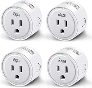 KMC Smart Plug,WiFi Mini Outlet 4 Pack, Compatible with Alexa, Google Assistant and IFTTT, Compatible with Smart Life APP, No Hub Required, Remote Control Your Devices from Anywhere, ETL Listed