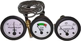 Fits Minneapolis Moline Tractor G, R, U, Z, 335, Big Mo 400, 445, 500, 600, Jet Star Temperature Oil Pressure Ammeter Gauge Kit Black Bezel