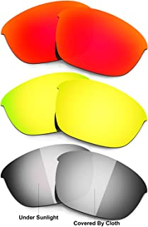 Hkuco Mens Replacement Lenses For Oakley Half Jacket 2.0 Sunglasses