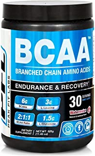 Peak Fit Labs Watermelon, BCAA Powder, 6 Grams, 3g L-Leucine, 1.5g L-Isoleucine, 1.5g L-Valine and 1.5g of L-Glutamine, Leading Post Workout, Essential Amino acids Recovery Drink Supplement