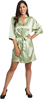 Zynotti Satin Bridal Party Robes - Available in 34 Colors and Variety of Sizes- Bride & Bridesmaid Wedding Party Kimono Robe
