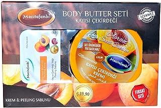 Kayısı Çekirdeği Yağlı Vücut Bakım Seti - Krem & Peeling Sabunu