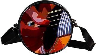 Coosun Umhängetasche für Gitarre, Instrument, Spiel-Gitarre, runde Umhängetasche, Schultertasche, Handtasche, Umhängetasch...