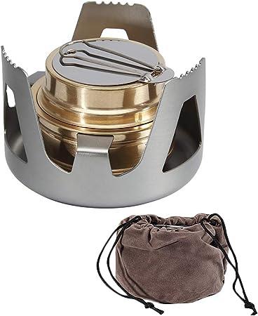 AZXAZ Estufa de alcohol mini portátil para acampar al aire ...
