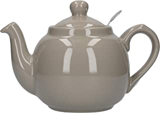 London Pottery Farmhouse Small Teapot with Infuser, Ceramic, Grey, 2 Cup (600 ml)