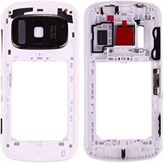 Professional Compatible With Nokia 808 PureView Middle Frame Bezel (Size : For nokia 808 pureview middle frame white)