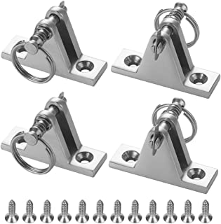 FinYii 4Pack Bimini Top 90° Hardware Deck Hinges for Boat Cover, 316 Stainless Steel