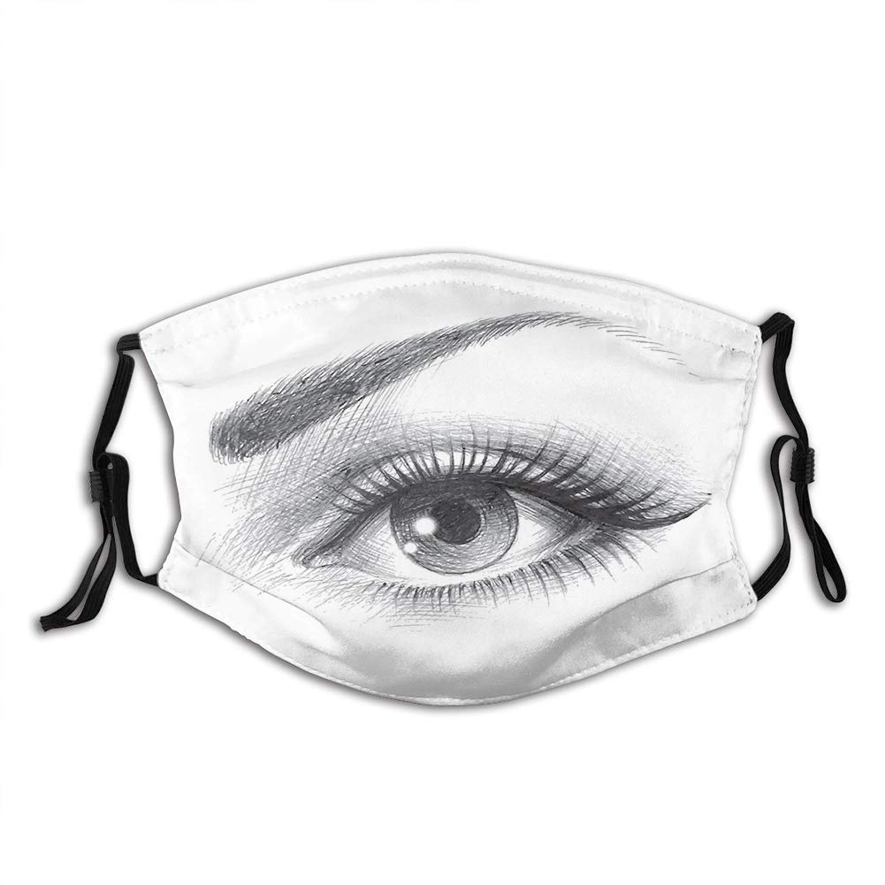 Funny We OFFer at cheap prices Activated Carbon Filters mask Drawing o Eye Pencil Sales Artwork