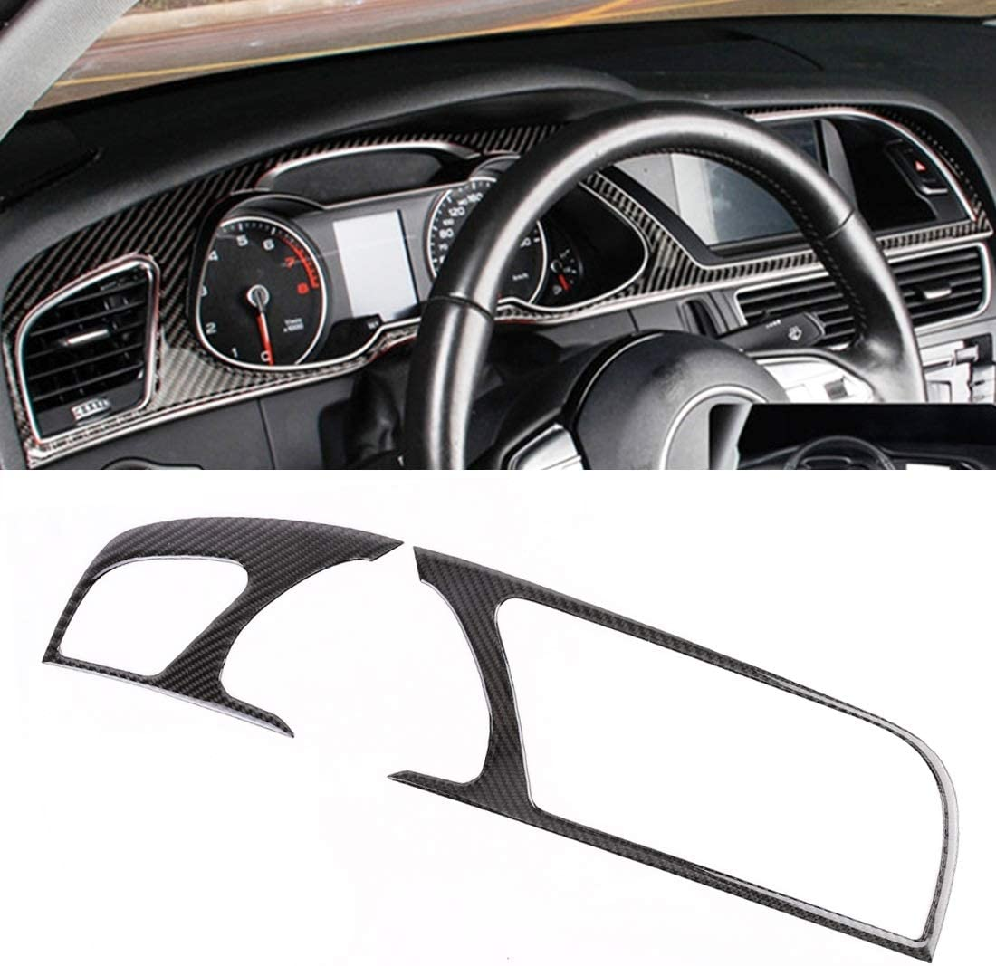 JIANBWAT Max 84% OFF 2 PCS Car Carbon Decorative Fiber Navigation for quality assurance Frame