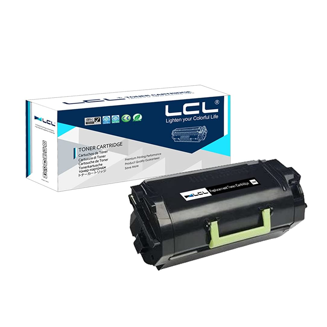 LCL Compatible Toner Cartridge Replacement for Lexmark 521H 52D1H00 52D1000 25000 Pages MS811N MS811DN MS812DN MS812DTN MS812DTN MS710dn MS710n MS711dn (1-Pack Black)