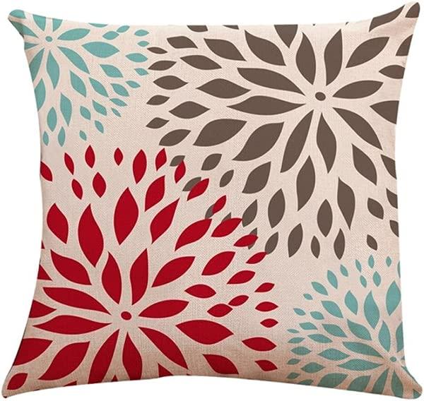 Iuhan Throw Pillow Case Cushion Cover Square Pillow Cover Cushion Case Toss Pillowcase Hidden Zipper Closure 18 X 18 45cm X 45cm A
