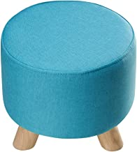 Yxsdd Stool - Sofa Stool, Home Triangle Shoe Bench, Solid Wood Living Room Small Stool/Fabric Removable Cleaning Bench (Co...