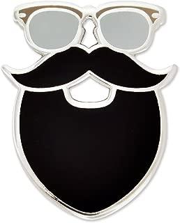 Hipster Glasses Mustache and Beard Enamel Lapel Pin