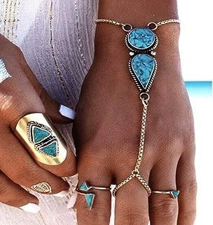 turquoise ring set