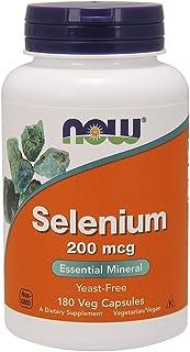 NOW Foods - mcg di selenio 200. -180 capsule vegetariane