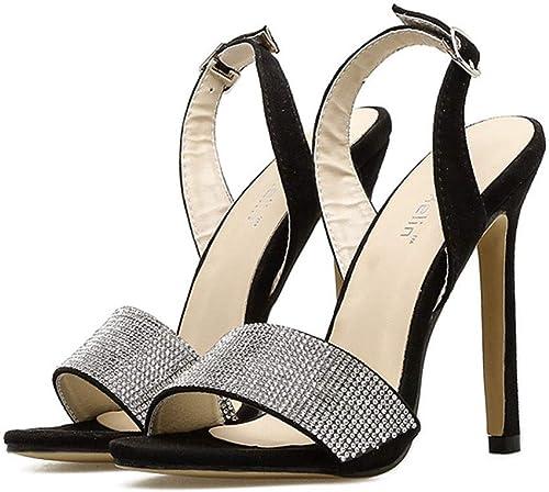 Honneur Sandales de en Strass Talons Aiguilles Superbes Sandales pour Femmes