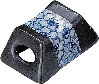 山下工芸 箸置き 白 4.5×2.8×2cm 筐型染付春秋箸衣 14086270