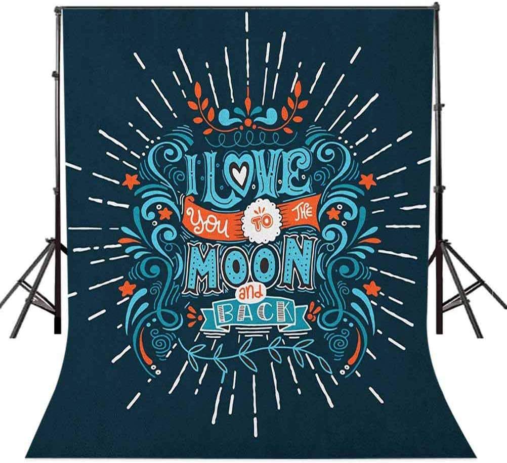 8x12 FT Cartoon Vinyl Photography Backdrop,Artsy Underwater Graphic with Algaes Coral Reefs Turtles Fishes The Life Aquatic Background for Baby Birthday Party Wedding Graduation Home Decoration