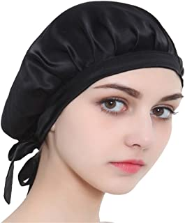 100% Mulberry Silk Night Sleeping Cap Bonnet Hats for Women, Chemo Caps Cancer Headwear Skull Cap,Very Silky & Comfortable