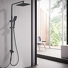 Lonheo Doucheset met 3 straalsoorten handdouche, douchesystemen zonder kraan, in hoogte verstelbare douchezuil en douchekop
