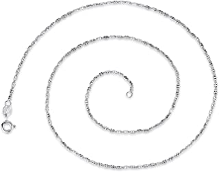 GemShadow Argento Sterling 925 Geometrico Tubi Cavo Catena