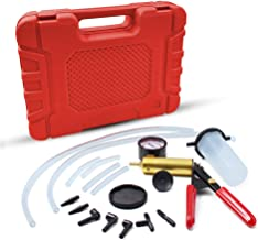 HTOMT 2 in 1 Brake Bleeder Kit Hand held Vacuum Pump Test Set for Automotive with Sponge Protected Case,Adapters,One-Man Brake and Clutch Bleeding System