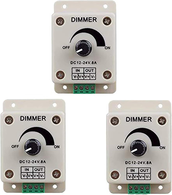 RGBZONE 3pcs DC12V - 24V 8 PWM Amp Bombing free shipping Nippon regular agency Ad Controller 0%-100% Dimmer