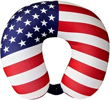 American Flag/Stars and Stripes - Cloudz Microbead Travel Neck Pillow