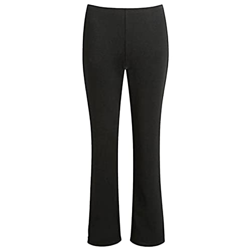 a3f029ae4 MyShoeStore Pack of 2 Ladies Bootleg Trousers Women Boot Cut High Rise  Stretch Soft Finely Ribbed