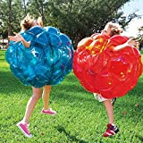 Holleyweb Inflatable 36'' Wearable Buddy Bumper Zorb Balls Heavy Duty Durable PVC Viny Bubble Soccer Outdoor Game (2-Pack,Blue&Red) …