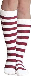 orange striped tube socks