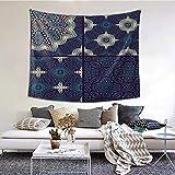 ZVEZVI Tapiz para Colgar en la Pared, tapices marroquíes Decorativos, decoración de Sala de Estar, Dormitorio para decoración del hogar, 60X51 Pulgadas