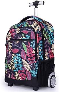 Rjj Trolley Backpack/Shoulder Bag/Computer Bag/Student Trolley Travel Bag Exquisite (Color : Purple)