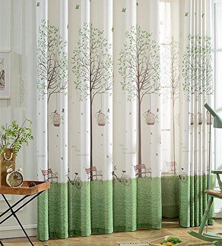 Rideaux et rideaux Produit moderne fini simple Produit Rideau Tissu Salon Chambre à demi-ombrage Tissu Rural Bay window-1PC , 1pc(250*270 cm?