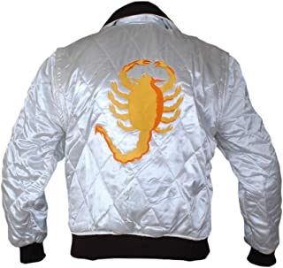Flesh & Hide F&H Men's Ryan Gosling Drive Scorpion Satin Jacket