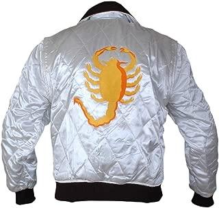 Flesh & Hide F&H Men's Ryan Gosling Drive Scorpion Satin Jacket