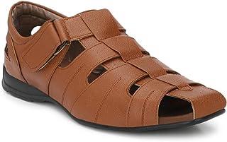 Andrew Scott Men's Synthetic Leather Sandals
