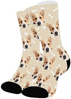 Arkioo, Calcetines faciales personalizados para niños, divertidos dibujos animados impresos en calcetines para cumpleaños, calcetines personalizados cómodos
