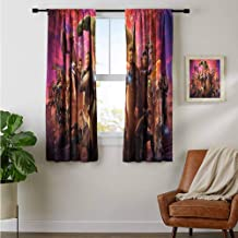 ZhiHdecor Customized Curtains Avengers Infinity war International Poster if 2 Panels Bedroom Kitchen Curtains