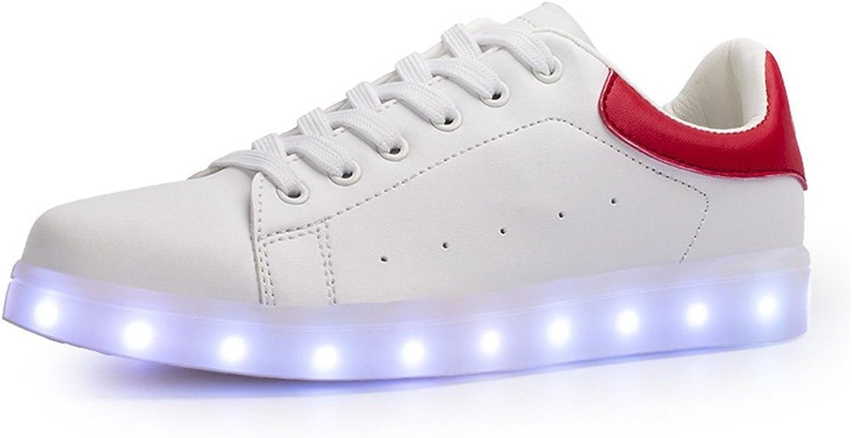 Uerescha Women&Men USB Charging Light Up Casual shoes Outdoor LED Flashing Sneakers-