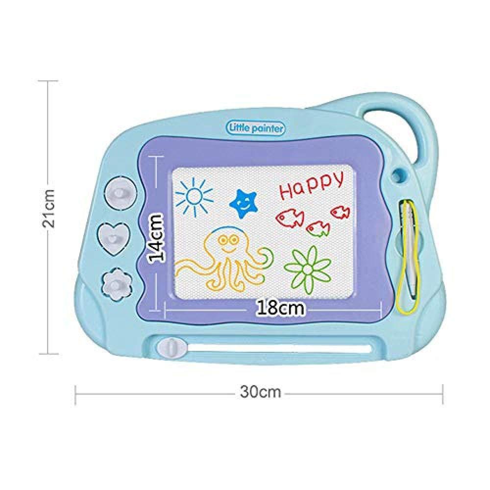 vising Pizarra de Dibujo para niños a Partir de 2, Unisex, Juguete de Aprendizaje para niños y niñas, borrable, Tabla magnética para Escribir, Regalo (Azul): Amazon.es: Juguetes y juegos