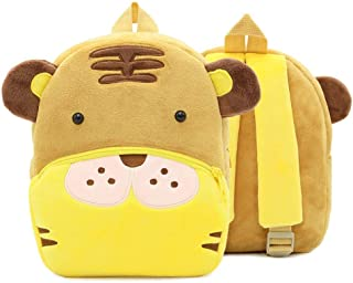 Kids Cartoon Plush School Bags Cute Animal Kindergarten Soft Backpack for Boys Girls Student Lovely Schoolbags Zhaozb (Color : Pink)
