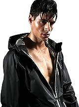 Cody Lundin Mannen Sauna Pak Gewichtsverlies Pak Fitness Pak Gym Hooded zwart Jas voor Mannen