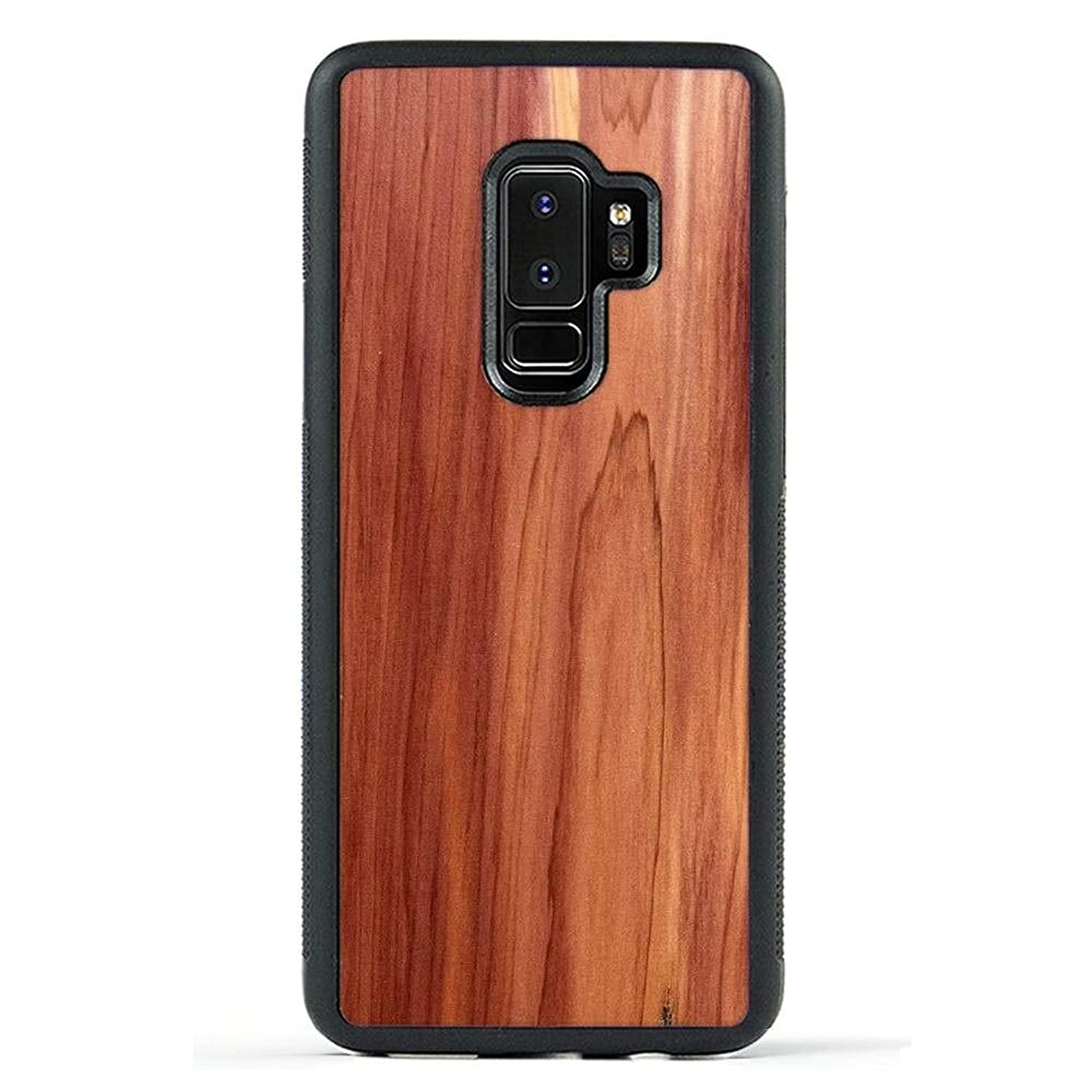 Carved | Samsung Galaxy S9 Plus | Luxury Protective Traveler Case | Unique Real Wooden Phone Cover | Rubber Bumper | Eastern Red Cedar