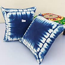 2 pieces pack Tie Dye cushion cover Ethnic Indian Pillow Cases 16x16 Boho Shams