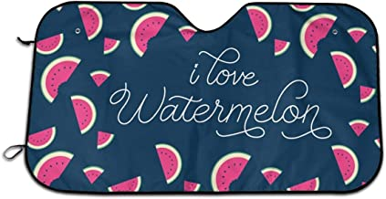 Sa-zqHH I Love Watermelon Car Windshield Car Sunshade Auto Front Window Sun Shade Visor Shield Cover Universal Fit Keep Your Vehicle Cool. UV Sun and Heat Reflector