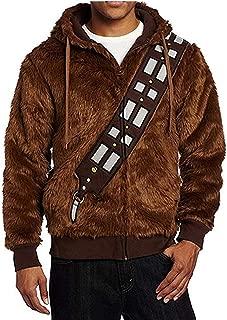 Hoodie Jacket Brown Furry Chewie Sweatshirt Halloween Cosplay Costume